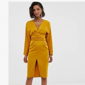 Satin ASOS Design Midi Dress